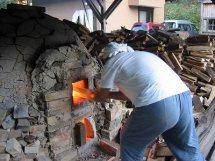 穴窯の焼成