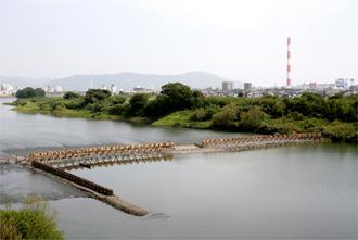 五ヶ瀬川鮎やな 全景