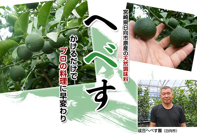 「へべす」宮崎県日向市原産の天然調味料かけるだけでプロの料理に早変わり