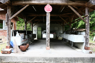 祝子川キャンプ場 炊飯施設