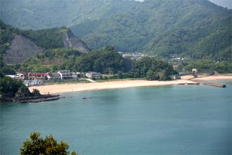 七つ島展望所からの景色 須美江海水浴場