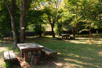 公園内のベンチ