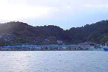 島野浦島の街並み