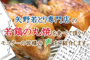 矢野若とり専門店 の 若鶏の丸焼 を食べて頂いた モニターの皆様の 声 をご紹介します。