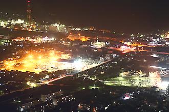 延岡市内の夜景